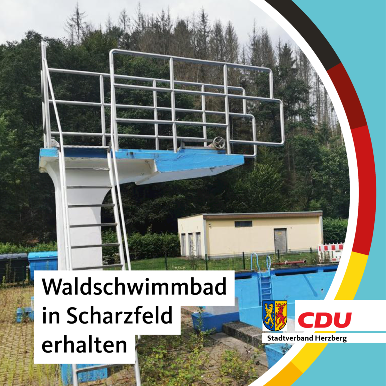 waldschwimmbad scharzfeld, sprungturm, scharzfeld, ortsteil herzberg